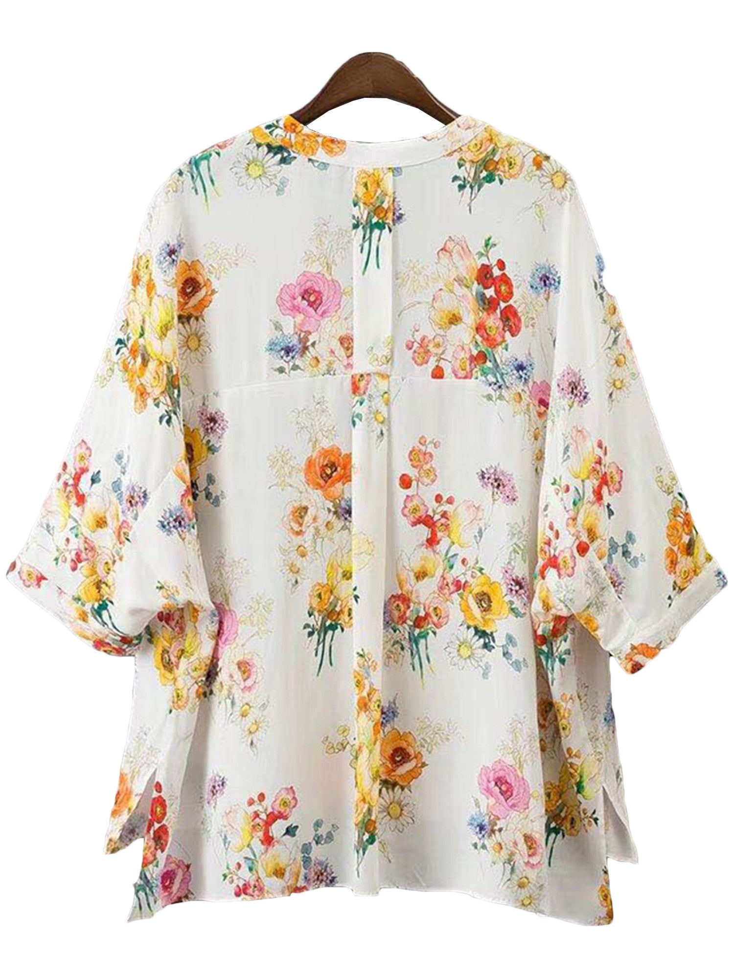 'Monique' Floral V-neck Blouse