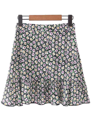 'Stacy' Floral Flare Peplum Skirt
