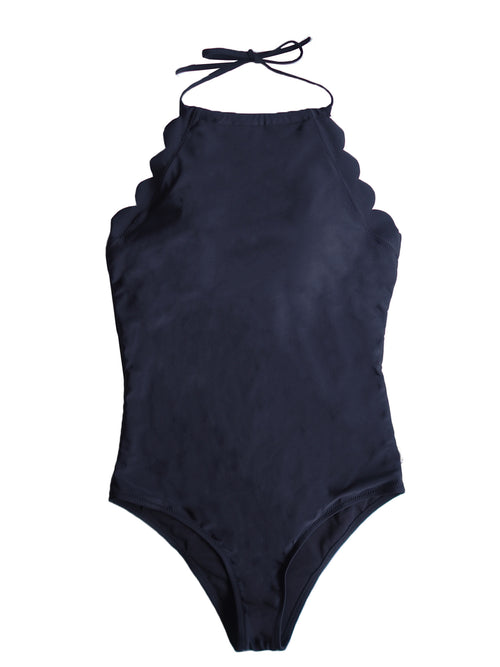 'Jade' Scallop Edge Swimsuit