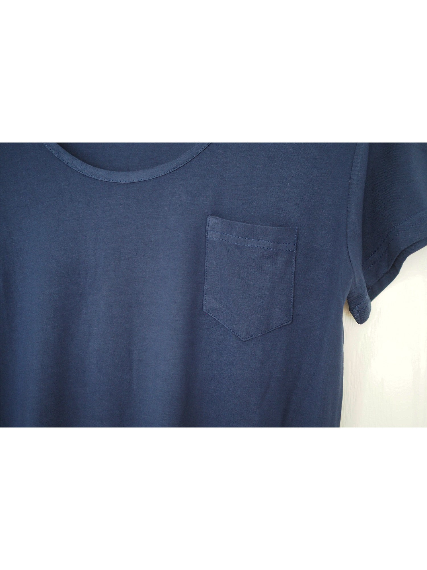 'Charisa' Blue Pocket Cotton Top
