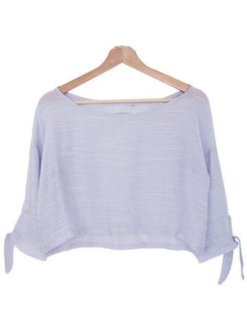 'Kasa' Cotton Purple Crop Top