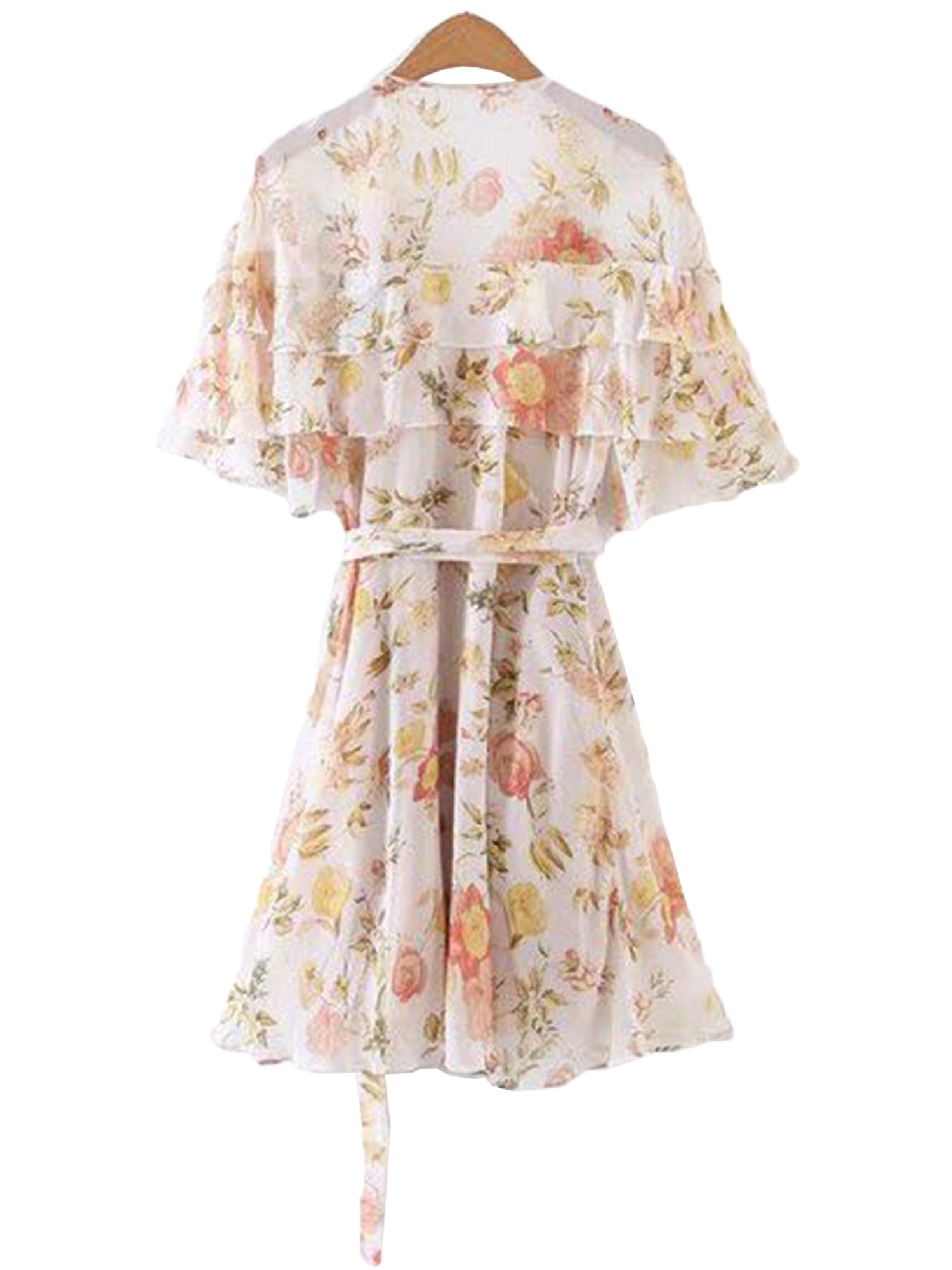 'Sylvia' Ruffle Floral Dress