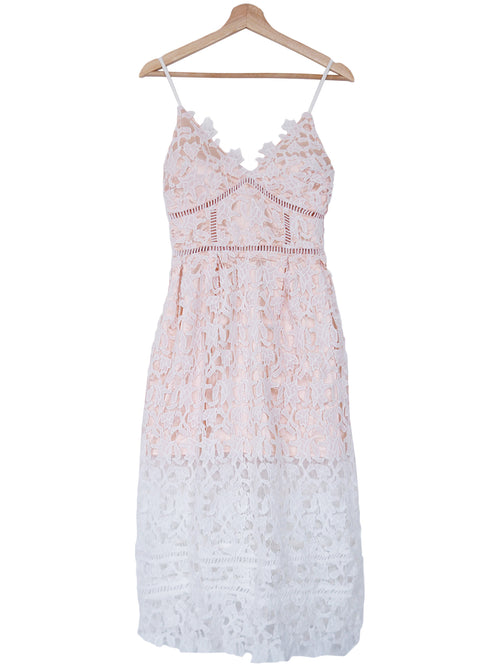 'Phillis' Lace Crochet Maxi Cami Dress