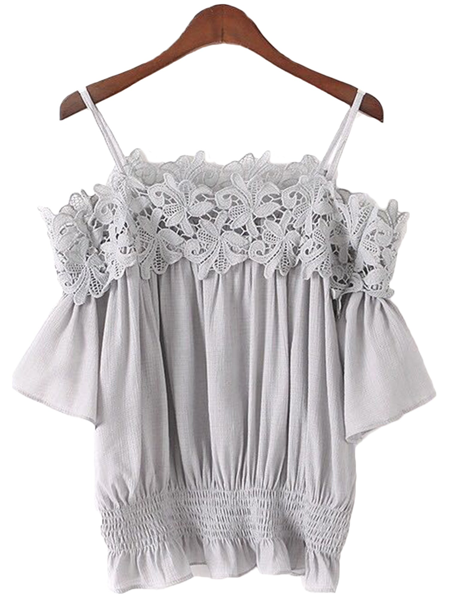 'Wen' Lace Pleated Cami Top