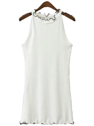 'Reba' Hign Neck Sleeveless Top