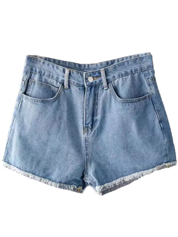 'Linda' High Rise Denim Shorts