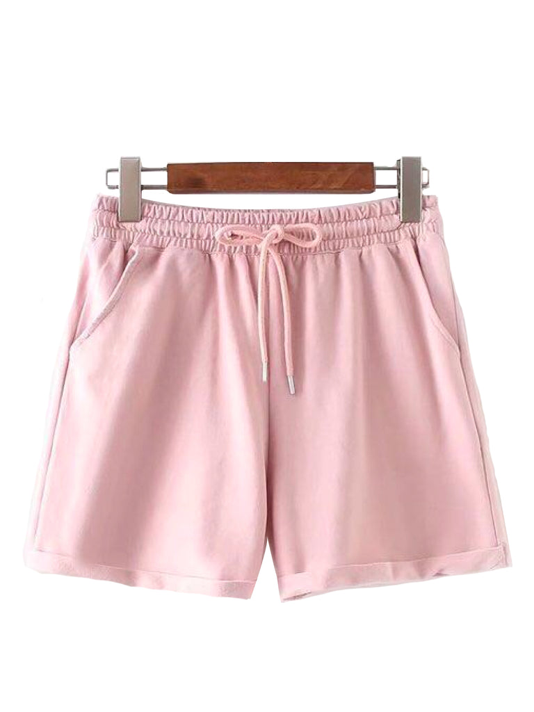 'Sania' Crop Top and Pink Shorts Set Co-ords (2 Colors)