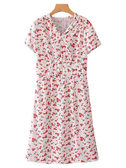 Goodnight Macaroon 'Nika' Short Sleeved Floral Empire Dress Front