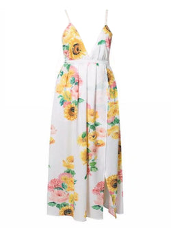 'Chelsey' Floral Cross Maxi Dress