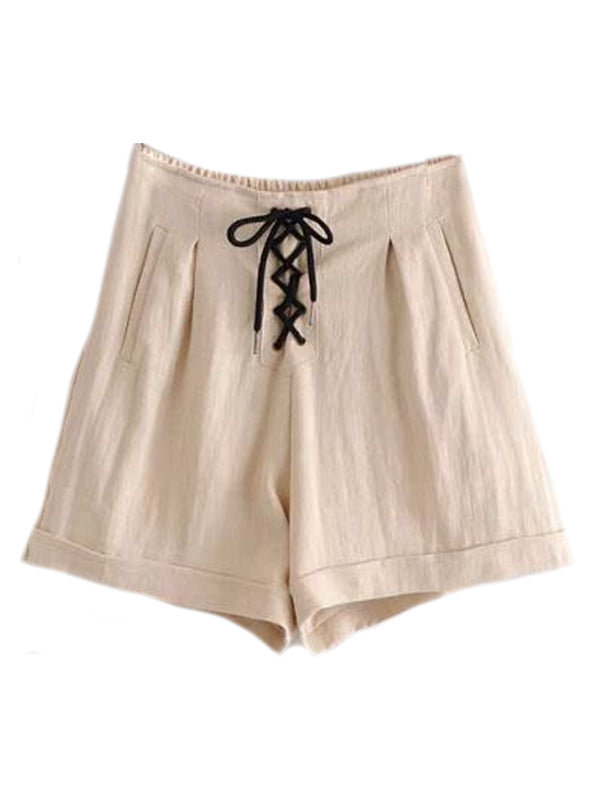 'Paulina' Lace-up Shorts (3 Colors)