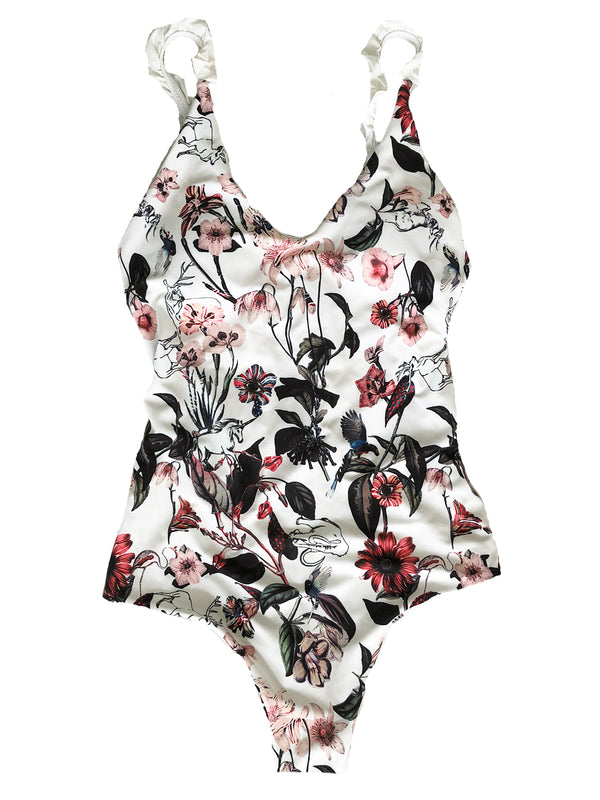 'Winky' Frill Floral Swimsuit (3 Colors)