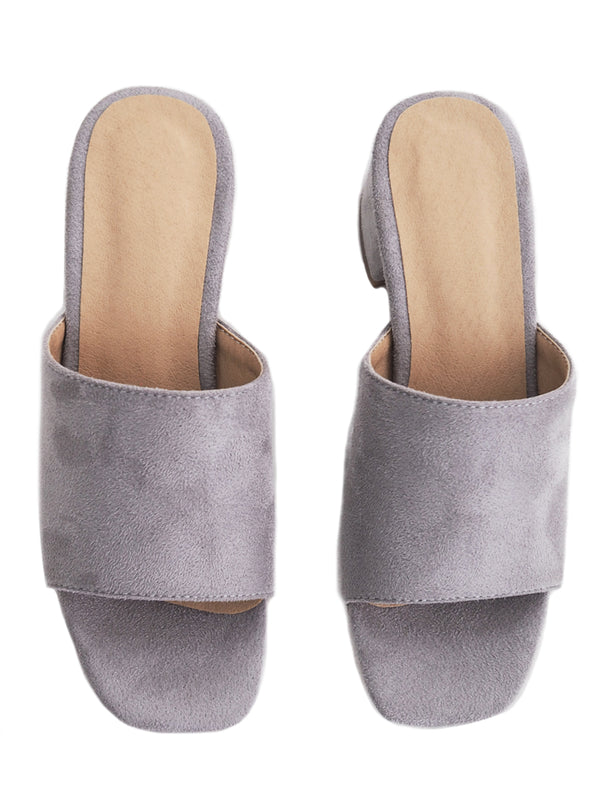 8d47413dfd3  Betsy  Suede Leather Heeled Mules (4 Colors) ...