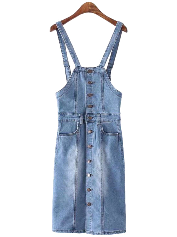 'Janaye' Pinafore Denim Dress