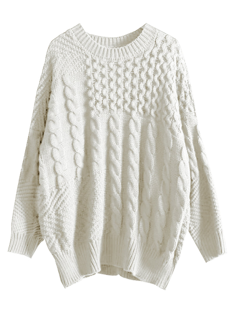 'Chloe' Mix-knitted Sweater by Champagne and Chanel ( 2 Colors )