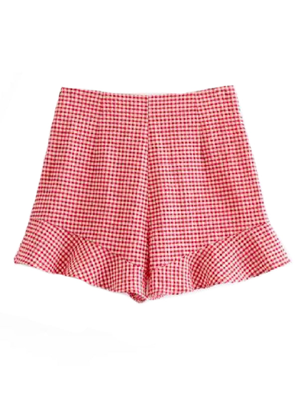 'Kater' Gingham Frill Shorts