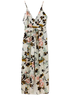 'Wene' Cami Floral Belted Jumpsuit (2 Colors)
