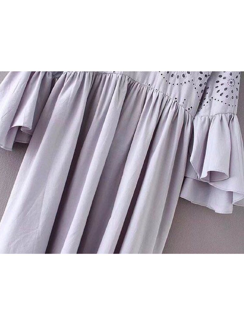 Goodnight Macaroon 'Karlie' Eyelet Flare Dress Product Detail