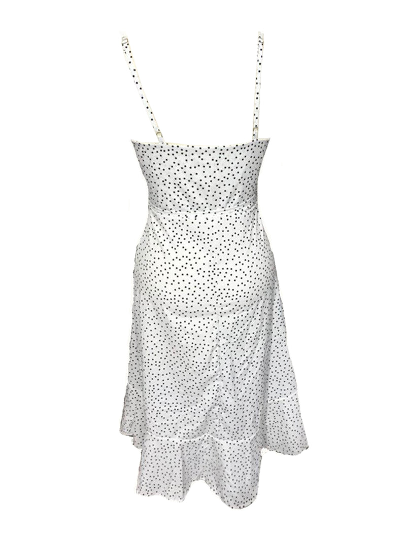 'Keoria' Polka Dot Wrap Flowy Midi Dress