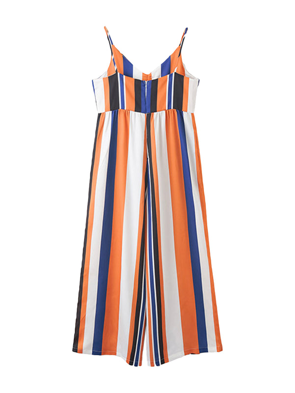 'Yannie' Striped Wide-leg Jumpsuit