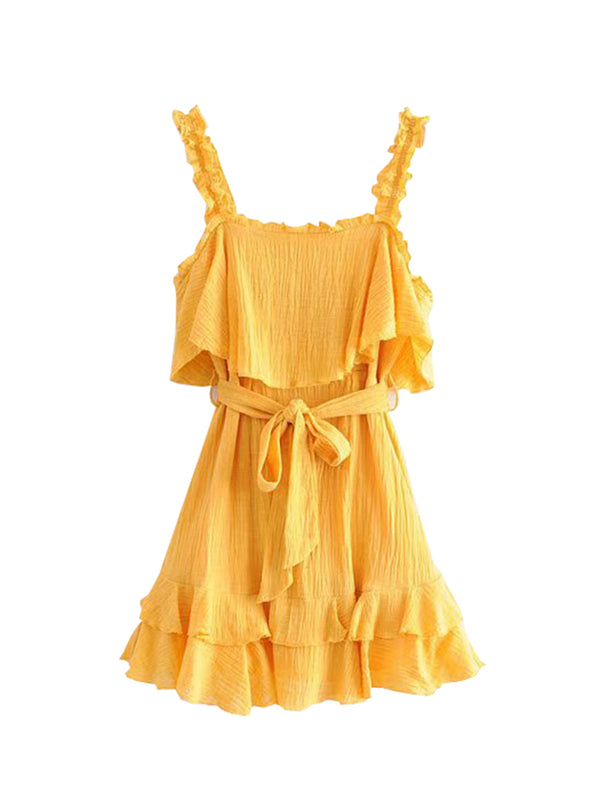 'Romeo' Frilled Ruffle Belted Dress
