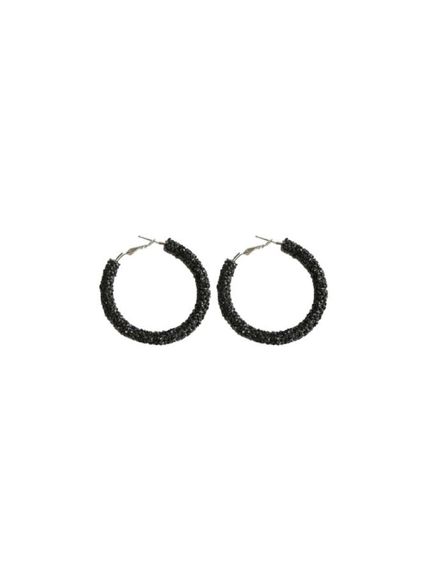'Warry' Crystal Hoop Earrings (4 Colors)
