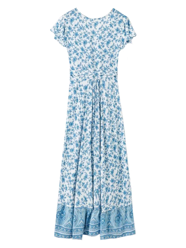 'Eve' Wrap Floral Maxi Dress