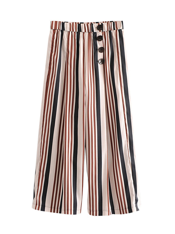 'Apollo' Vertical Striped Wide Leg Pants