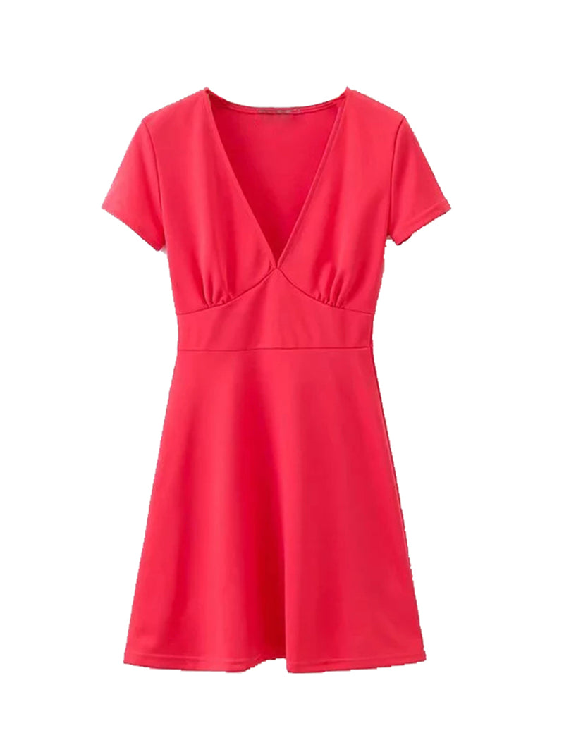 'Layla' V-neck Flare Dress (3 Colors)