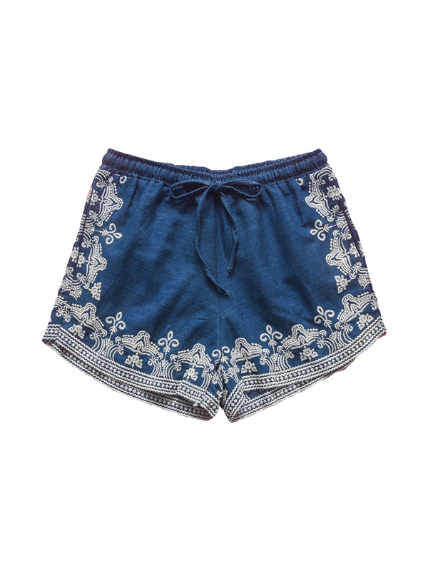 'Ashley' Embroidered Denim Shorts (2 Colors)