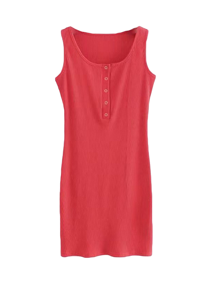 'Aromy' Essential Sleeveless Dress (4 Colors)