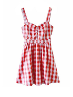 'Harley' Gingham Flared Mini Dress (2 Colors)