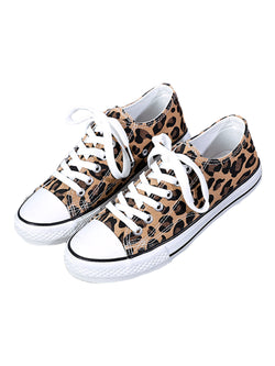 'Sally' Leopard Print Low Top/ High Top Sneakers