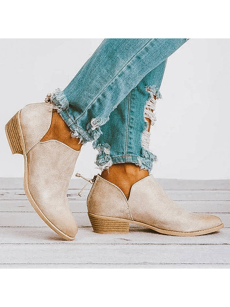 Goodnight Macaroon 'Jollie' Oxford Heel Cut Out Boots Side