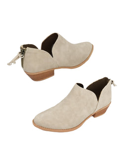 Goodnight Macaroon 'Jollie' Oxford Heel Cut Out Boots Pair