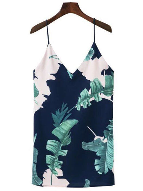 Goodnight Macaroon Summer Palm Tree Print Dress