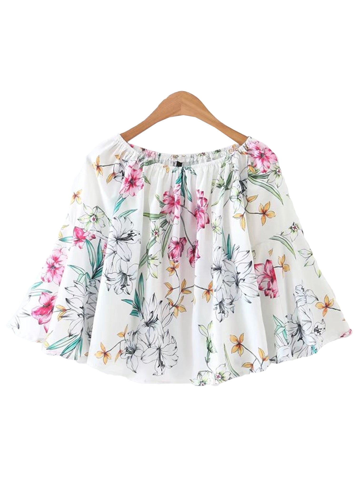 'Star' Floral Flare Swing Top