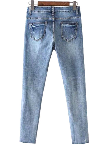 'Smary' Side Shredded Jeans