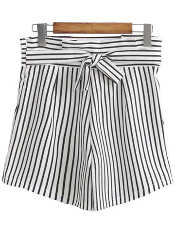 'Jossy' Knotted Striped Shorts