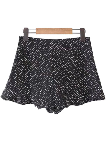 'Kendra' Polka Dot Frilly Hem Shorts