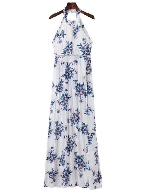 'Cindy' Floral Choker Maxi Dress