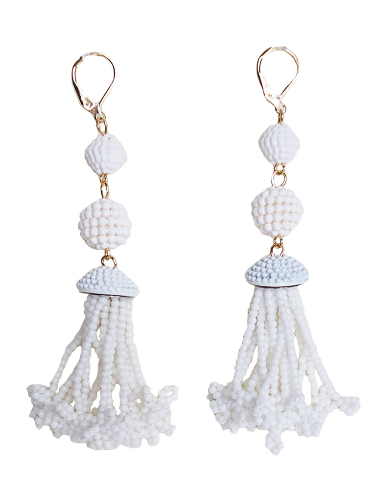 'Tayler' Tessel-like Beads Earrings