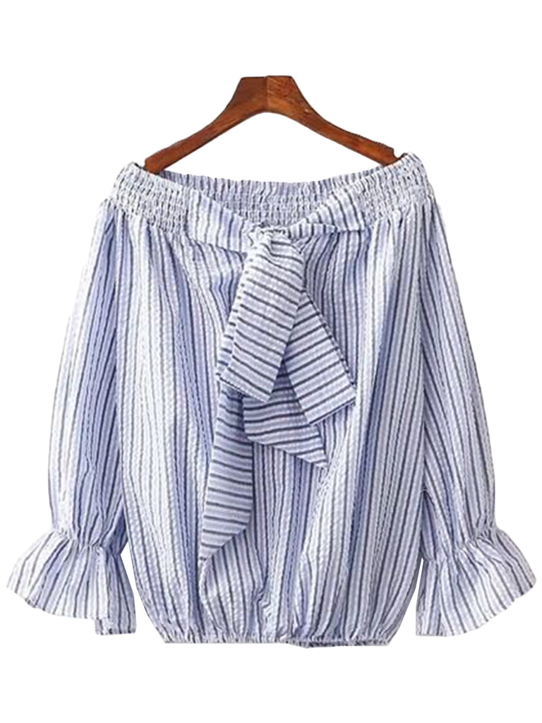 'Kendyl' Striped Off Shoulder Top