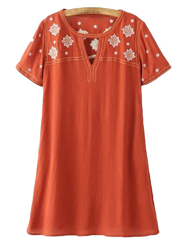 'Tinley' Embroidered Top Shift Dress