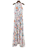 'Malaya' White Floral Maxi Dress