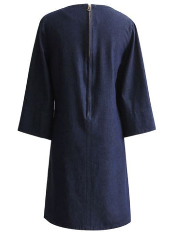 'Roselyn' Navy Blue Flare Pocket Dress