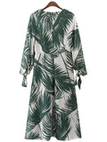 'Riley' Palm Print Maxi Dress