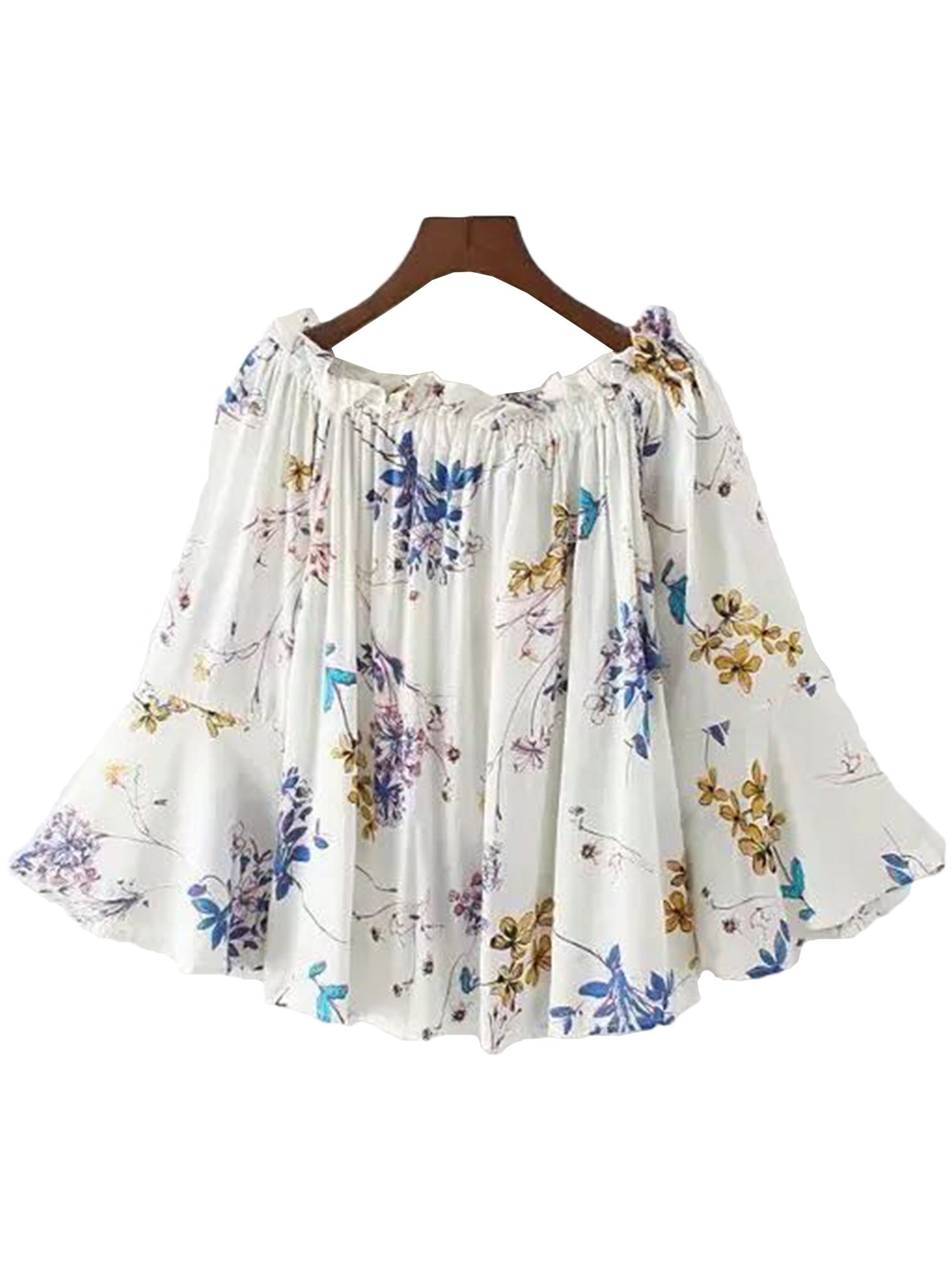 'Avery' Floral Off Shoulder Swing Top