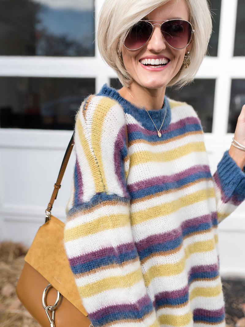 'Lola' Striped Sweater by Loverly Grey