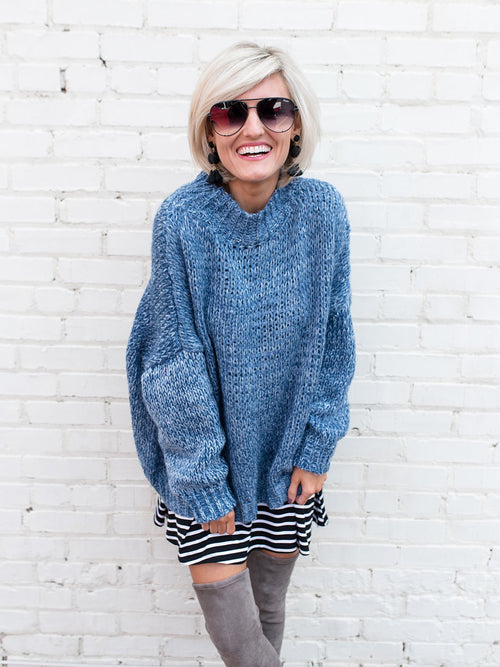 'Violet' Oversized Sweater by Loverly Grey