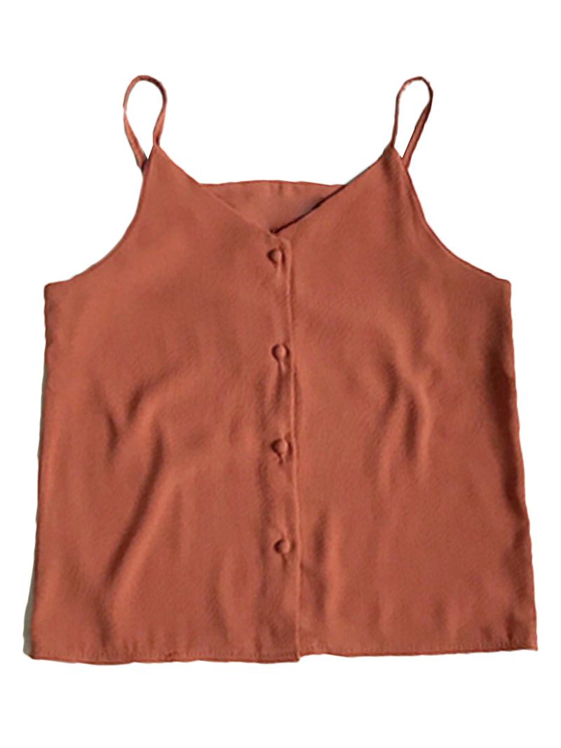 'Debra' Button Cami Top (6 Colors)